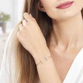 Bracelet Jonc Tea Argent Blanc Oxyde De Zirconium - Bracelets fantaisie Femme | Histoire d'Or