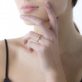 Bague Solitaire Samantha Or Blanc Diamant - Bagues solitaires Femme   Histoire d'Or