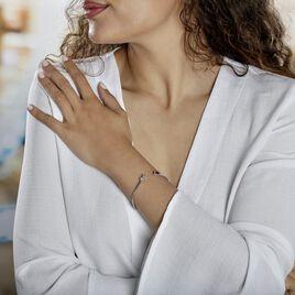 Bracelet Jonc Ouvert Argent Rhodié Cemenelus Oxydes De Zirconium - Bracelets Coeur Femme | Histoire d'Or