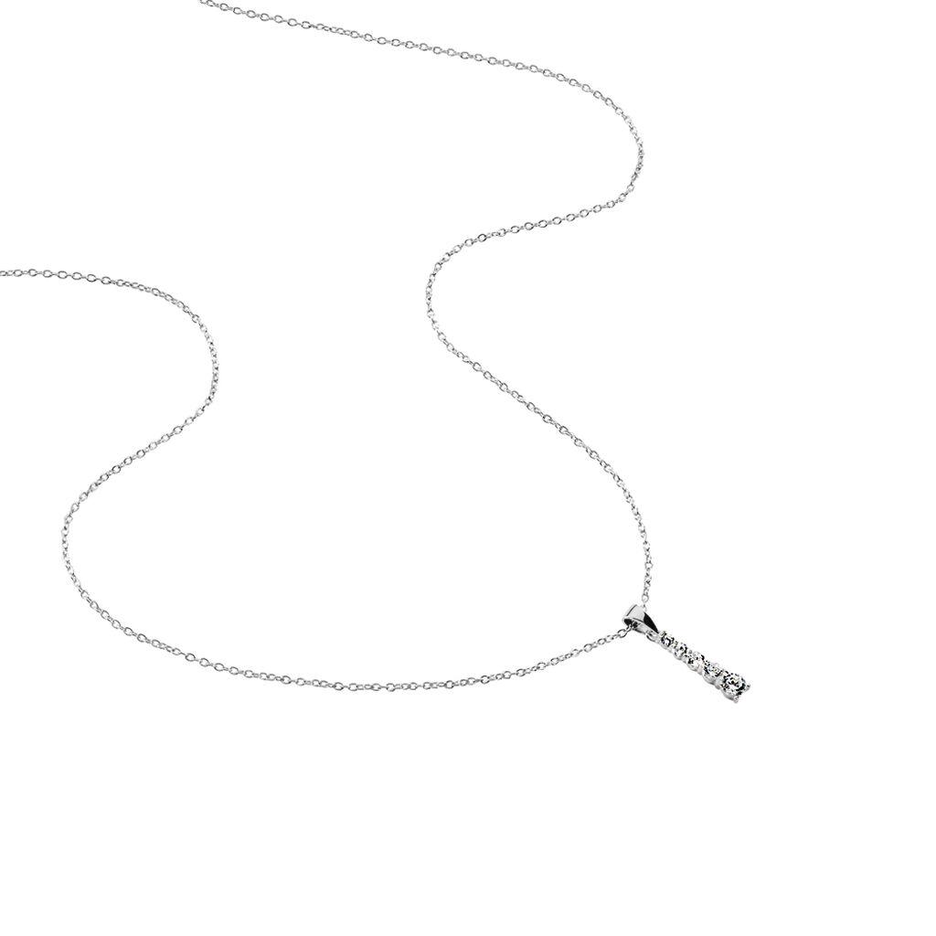 Collier Henriet Argent Blanc Oxyde De Zirconium - Colliers fantaisie Femme   Histoire d'Or