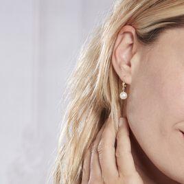 Boucles D'oreilles Pendantes Cecilius Or Jaune Perle De Culture - Boucles d'oreilles pendantes Femme | Histoire d'Or