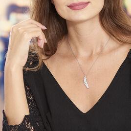 Collier Merielle Argent Blanc Oxyde De Zirconium - Colliers Plume Femme | Histoire d'Or