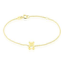 Bracelet Carmin Ourson Or Jaune - Bracelets Naissance Enfant | Histoire d'Or