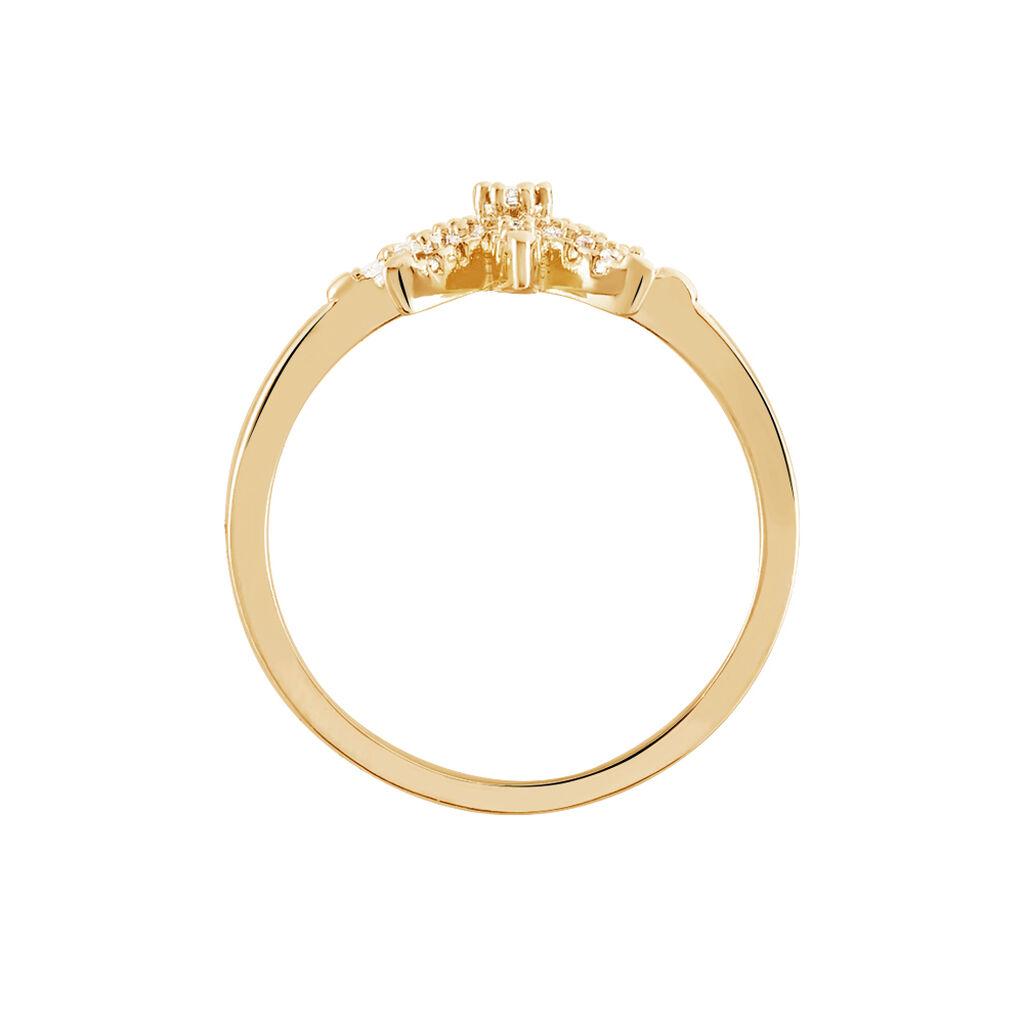 Bague Marcellina Plaque Or Jaune Oxyde De Zirconium - Bagues Etoile Femme | Histoire d'Or