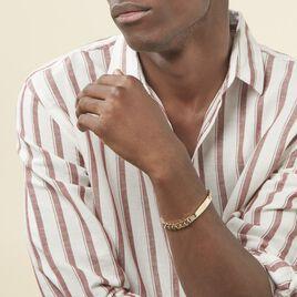 Bracelet Identité Clement Maille Gourmette Plaque Or Jaune - Gourmettes Homme   Histoire d'Or