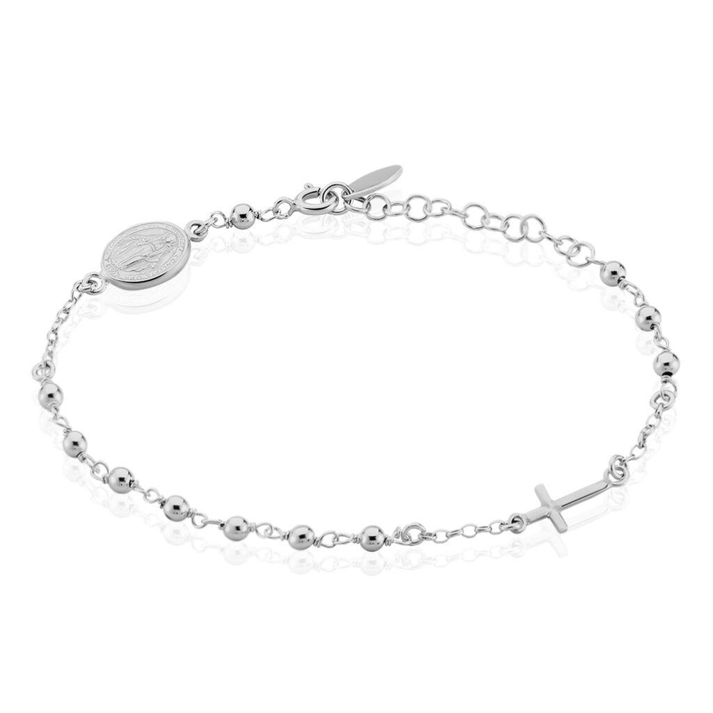 Bracelet Pavline Argent Blanc - Bracelets Croix Femme | Histoire d'Or