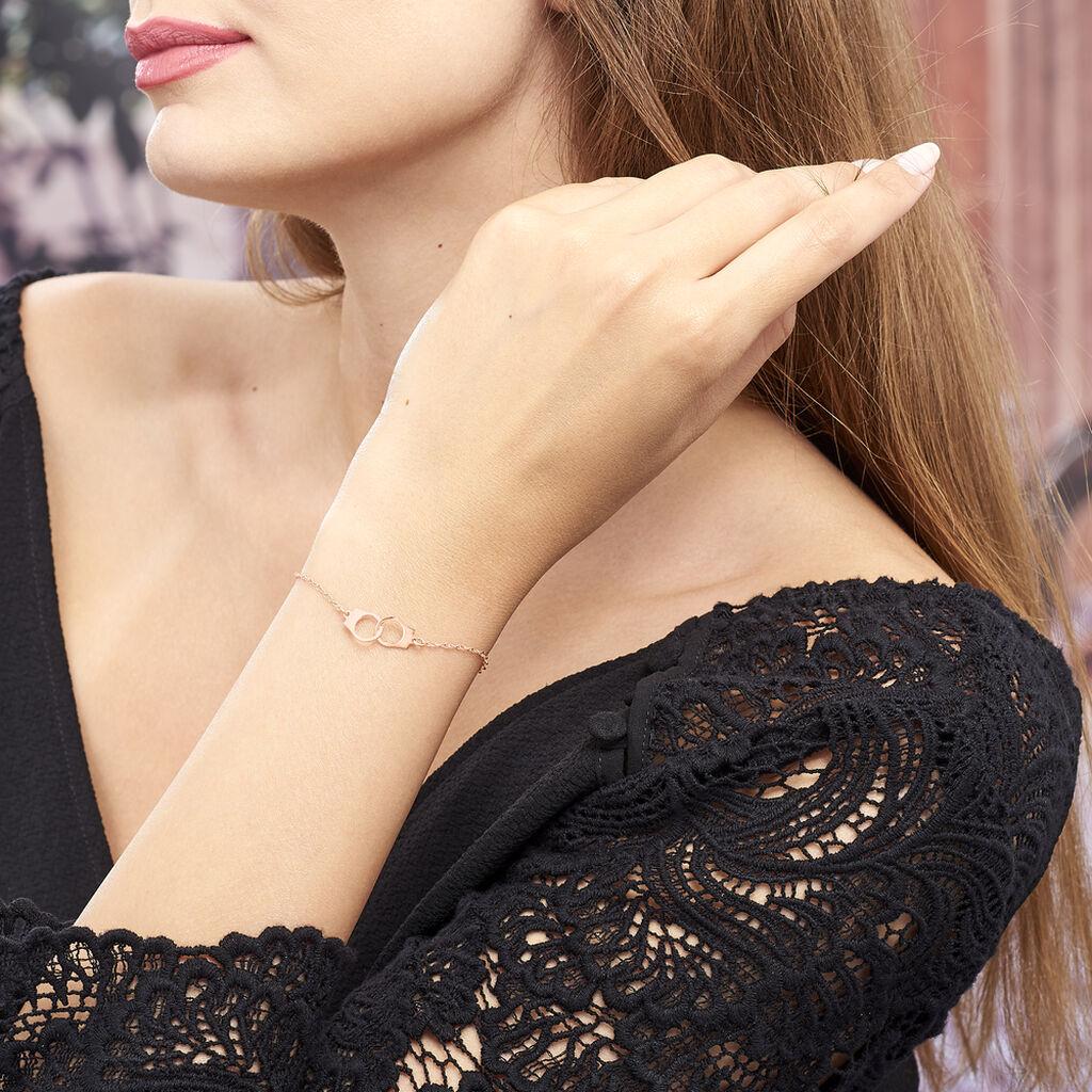 Bracelet Kim Argent Rose - Bracelets fantaisie Femme   Histoire d'Or