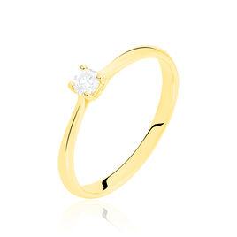 Bague Solitaire Victoria Or Jaune Diamant - Bagues avec pierre Femme | Histoire d'Or