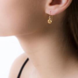 Boucles D'oreilles Pendantes Fidelia Boules Or Jaune - Boucles d'oreilles pendantes Femme | Histoire d'Or