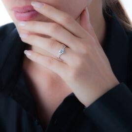 Bague Berata Or Blanc Oxyde De Zirconium - Bagues solitaires Femme | Histoire d'Or