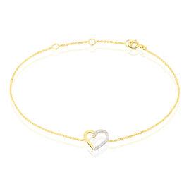 Bracelet Ravenna Or Jaune Diamant - Bracelets Coeur Femme | Histoire d'Or