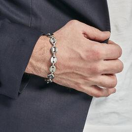 Bracelet Acier Cadia Grain De Cafe - Bracelets fantaisie Homme | Histoire d'Or
