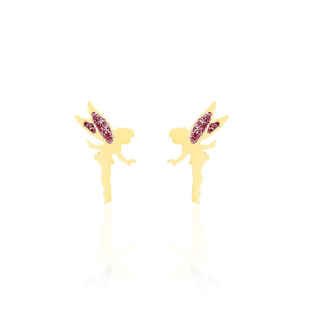 Boucles D'oreilles Puces Feelia Or Jaune - Clous d'oreilles Enfant | Histoire d'Or
