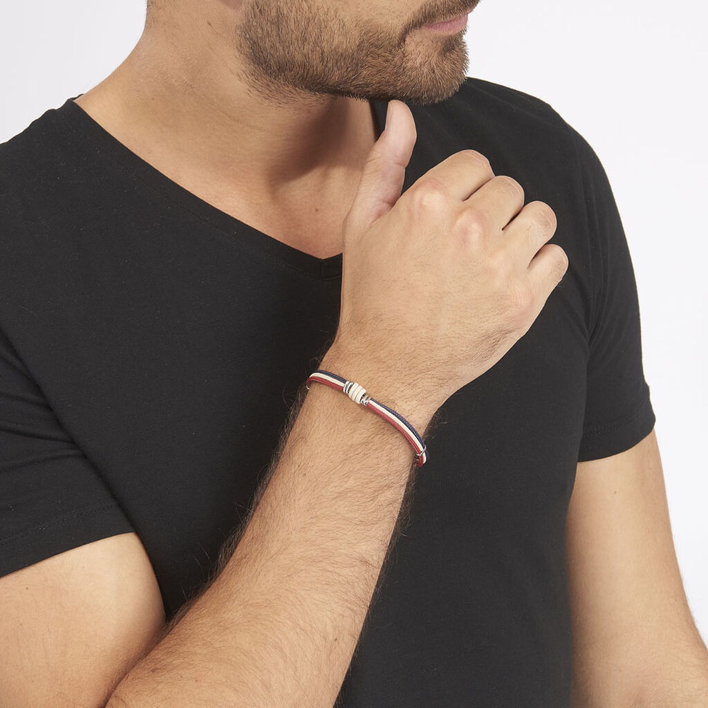 Bracelet Acier - Bracelets cordon Homme   Histoire d'Or
