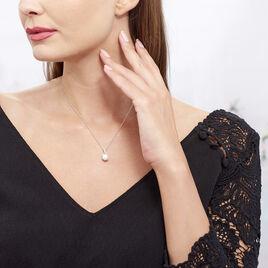 Collier Albine Argent Blanc Perle De Culture Et Oxyde De Zirconium - Colliers fantaisie Femme | Histoire d'Or