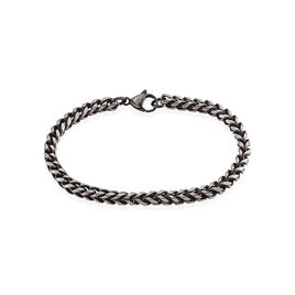 Bracelet Jasone Maille Franco Acier Gris - Bracelets fantaisie Homme | Histoire d'Or