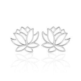 Boucles D'oreilles Puces Rosita Argent Blanc - Boucles d'oreilles fantaisie Femme | Histoire d'Or