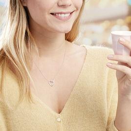 Collier Elanda Argent Blanc Oxyde De Zirconium - Colliers Coeur Femme | Histoire d'Or
