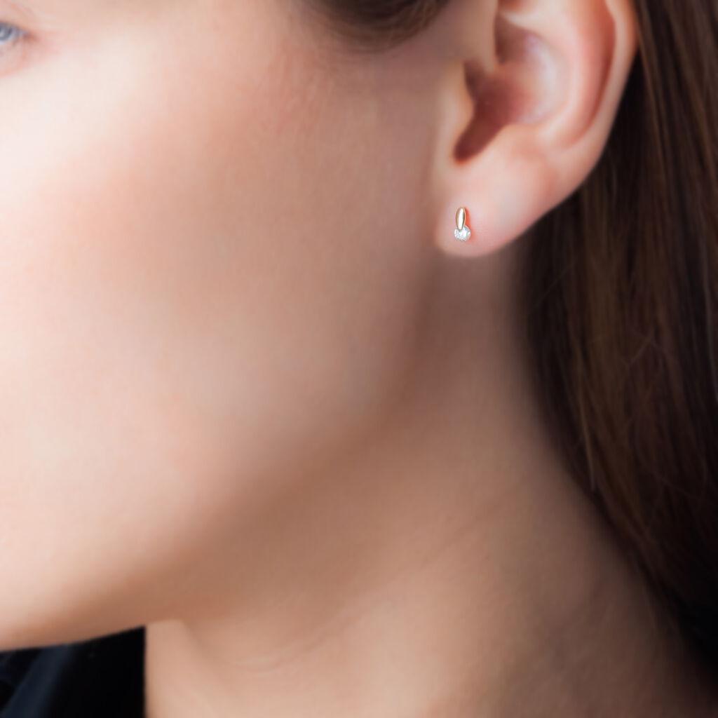 Boucles D'oreilles Pendantes Clementa Or Jaune Oxyde De Zirconium - Boucles d'oreilles pendantes Femme | Histoire d'Or