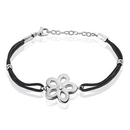Bracelet Hermione Acier Blanc Strass - Bracelets cordon Femme | Histoire d'Or