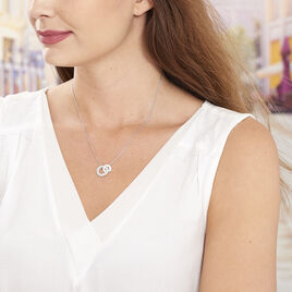 Collier Anjeza Argent Blanc - Colliers fantaisie Femme   Histoire d'Or