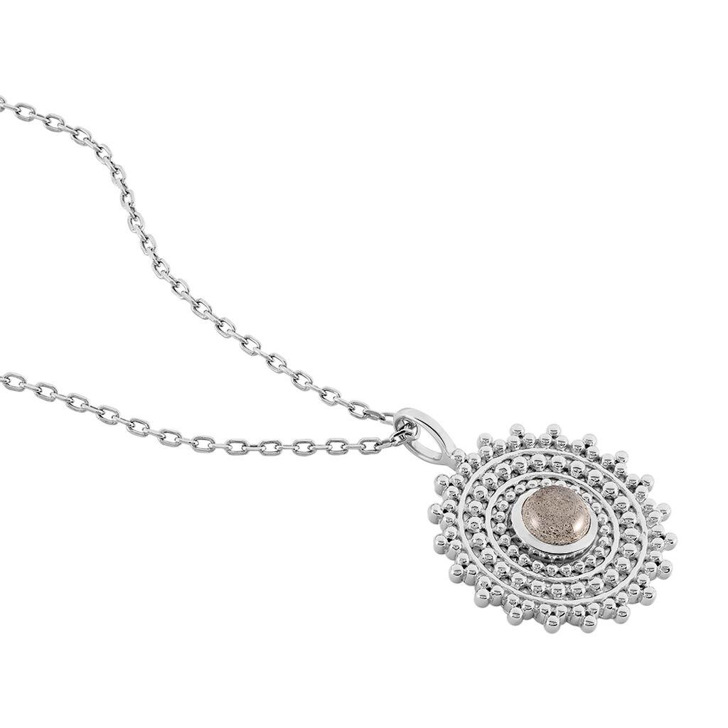 Collier Nyoko Argent Blanc Labradorite - Colliers fantaisie Femme | Histoire d'Or
