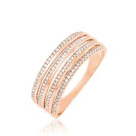 Bague Ines Or Rose Diamant - Bagues avec pierre Femme | Histoire d'Or