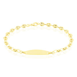 Bracelet Identité Evin Maille Grain De Cafe Or Jaune - Bracelets Communion Enfant | Histoire d'Or