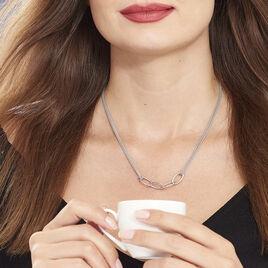 Collier Chadi Argent Blanc - Colliers doubles et triples chaînes Femme   Histoire d'Or