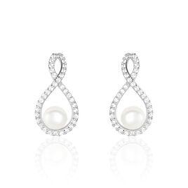 Boucles D'oreilles Argent Perles De Cultures - Boucles d'oreilles fantaisie Femme | Histoire d'Or