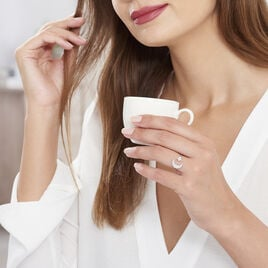 Bague Soleina Argent Blanc Oxyde De Zirconium - Bagues Etoile Femme | Histoire d'Or
