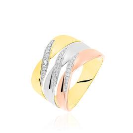 Bague Exauce Or Tricolore Diamant - Bagues avec pierre Femme | Histoire d'Or