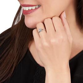 Bague Melyahae Or Blanc Topaze Et Diamant - Bagues solitaires Femme | Histoire d'Or