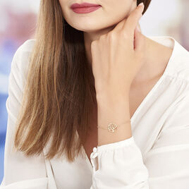 Bracelet Plaque Or Jaune Laora - Bracelets Arbre de vie Femme | Histoire d'Or