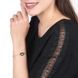 Bracelet Anissa Argent Blanc Céramique Et Oxyde De Zirconium - Bracelets Coeur Femme | Histoire d'Or