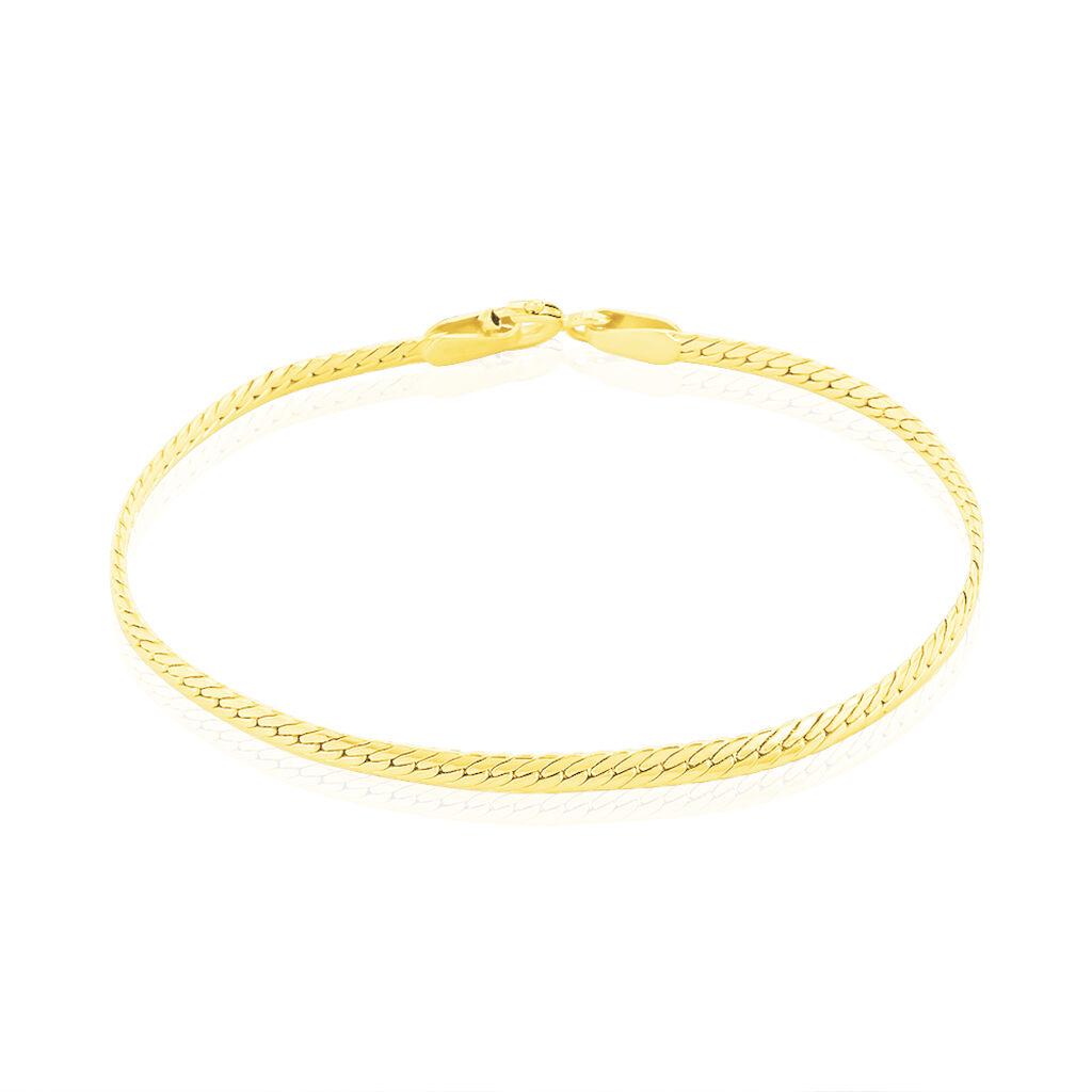 Bracelet Elnora Maille Anglaise Or Jaune - Bracelets Naissance Enfant   Histoire d'Or