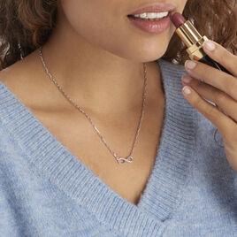 Collier Bastin Argent Blanc Oxyde De Zirconium - Colliers Infini Femme | Histoire d'Or