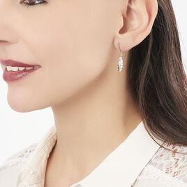 Boucles D'oreilles Pendantes Paola Or Jaune Diamant - Boucles d'Oreilles Plume Femme | Histoire d'Or