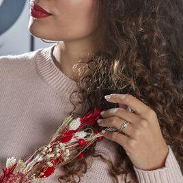 Bague Or Jaune Rodhia Diamants - Bagues avec pierre Femme   Histoire d'Or