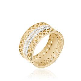 Bague Solena Plaque Or Jaune Oxyde De Zirconium - Bagues avec pierre Femme | Histoire d'Or