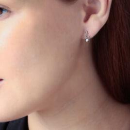 Boucles D'oreilles Pendantes Yedaz Argent Blanc Oxyde De Zirconium - Boucles d'oreilles fantaisie Femme   Histoire d'Or