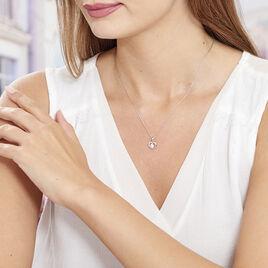 Collier Nalan Argent Blanc Oxyde De Zirconium - Colliers Coeur Femme | Histoire d'Or