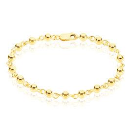 Bracelet Chaine Or Jaune Maille Boule - Bracelets chaîne Femme | Histoire d'Or
