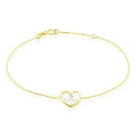 Bracelet Or Jaune Vallatina Nacre - Bracelets Coeur Femme   Histoire d'Or
