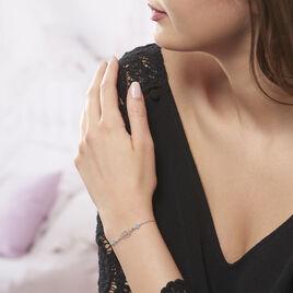 Bracelet Angelika Argent Blanc Pierre De Synthese - Bracelets fantaisie Femme | Histoire d'Or