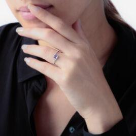 Bague Loriane Or Blanc Amethyste Et Oxyde De Zirconium - Bagues solitaires Femme | Histoire d'Or