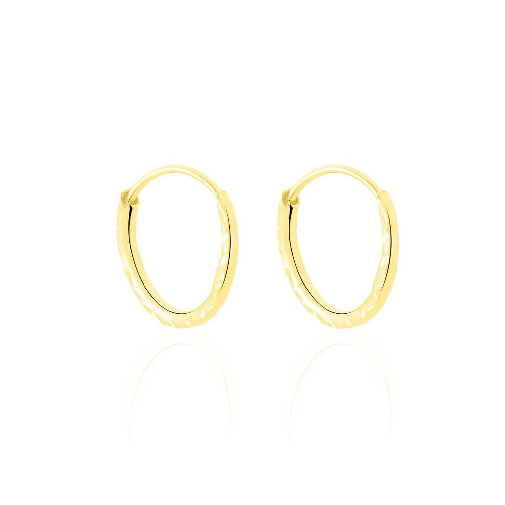 Créoles Valerina Ciselees Or Jaune - Boucles d'oreilles créoles Femme   Histoire d'Or