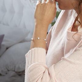 Bracelet Perlita Argent Blanc Perle De Culture - Bracelets fantaisie Femme   Histoire d'Or