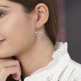 Boucles D'oreilles Pendantes Sigourney Acier Blanc - Boucles d'oreilles fantaisie Femme   Histoire d'Or