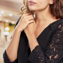 Bracelet Abbie Argent Blanc - Bracelets fantaisie Femme   Histoire d'Or